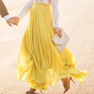 Dresses & Skirts - Yellow maxi skirt NWT